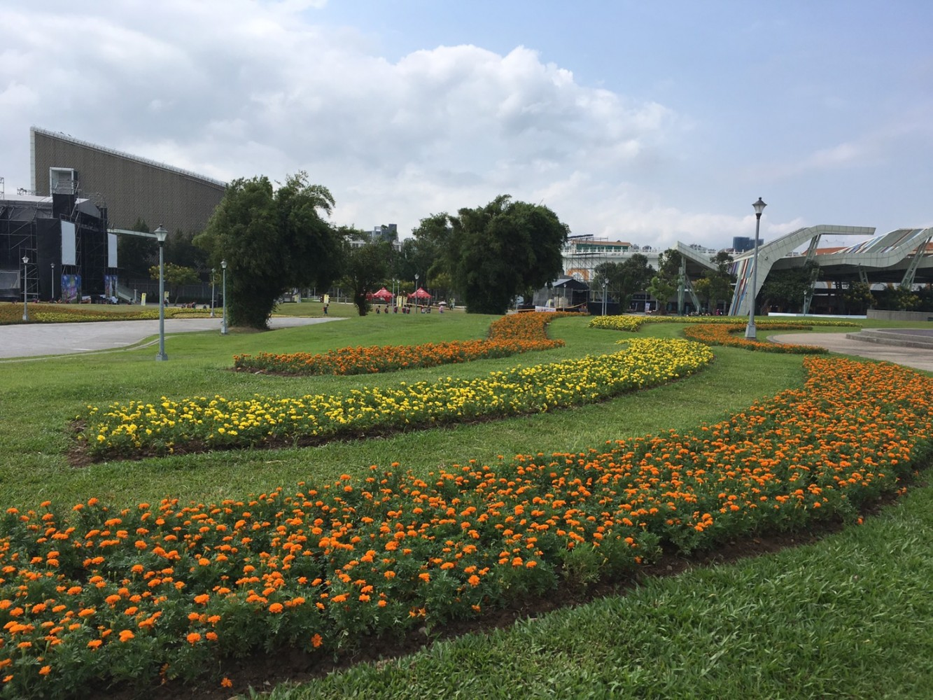 A corner of the Yuanshan Area of Taipei Expo Park.